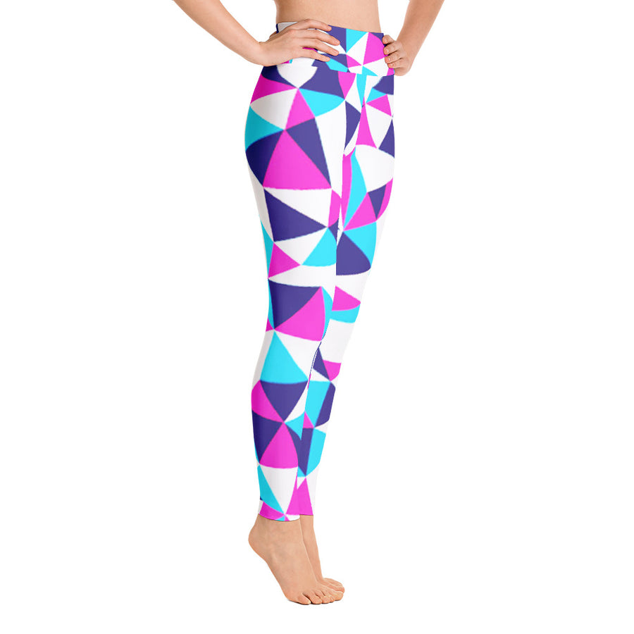 . High Waist Glass Mirror Leggings