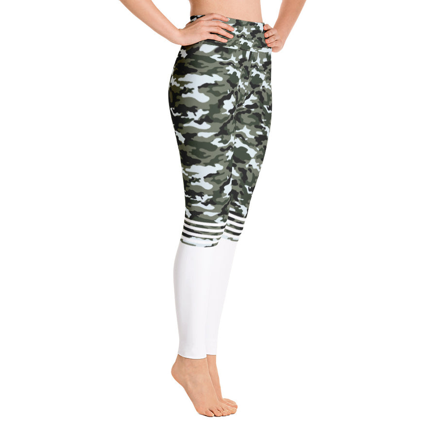 . High Waist Miltary Leggings