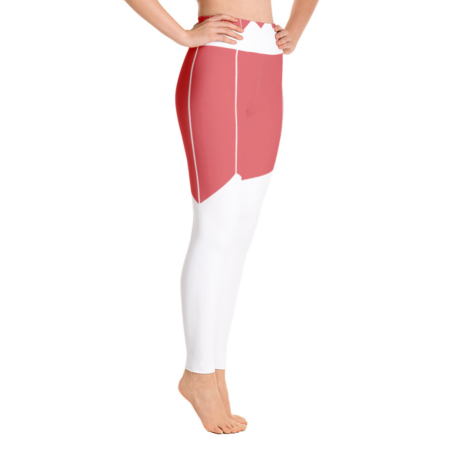 . High Waist Cranberry Leggings