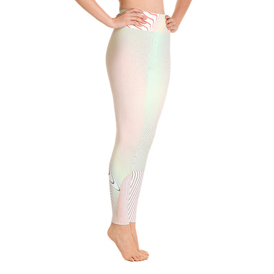 . High Waist Color Curve Leggings