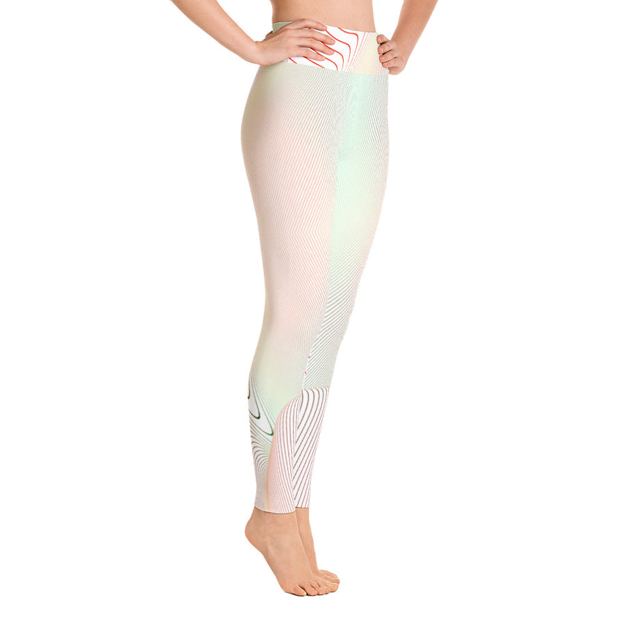 High Waist Color Curve Leggings