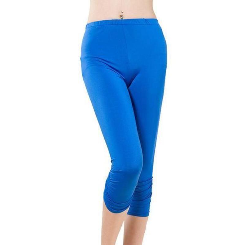 High Waist Slim Fitted Training Capris