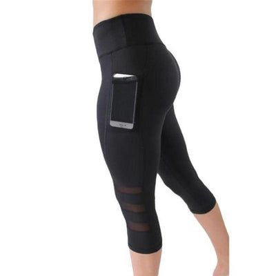 Breathable Pocketed Compression Leggings/Capris