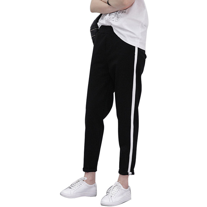 Stripe Panel High Waist Fitness Sweatpants