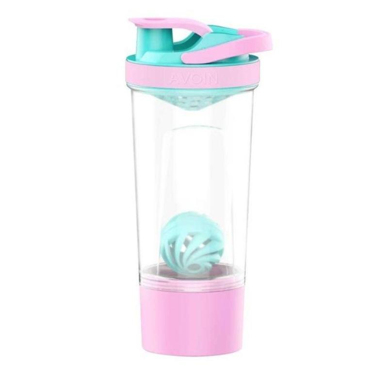 720ml Protein Shaker Bottle w/ Mixball & Storage