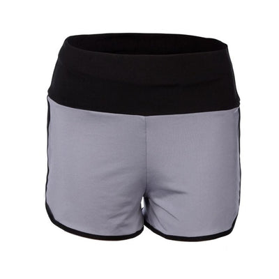 Ruffle Waist Stretch Fitted Training Shorts