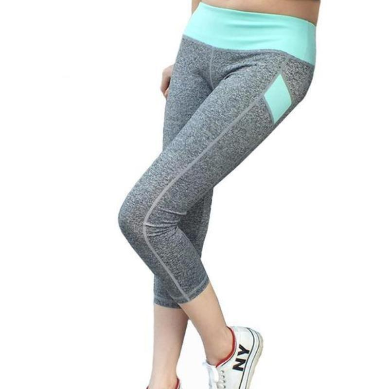 Mid-Waist Stretch Fitted Training Capris