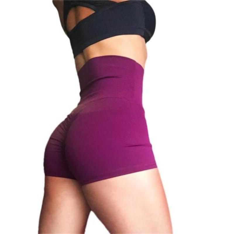 Compression Fit High Waist Active Shorts