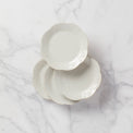French Perle White™ 4-piece Dessert Plate Set