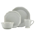 French Perle Bead Grey 4-Piece Place Setting