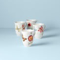 Butterfly Meadow Red 4-Piece Mug Set