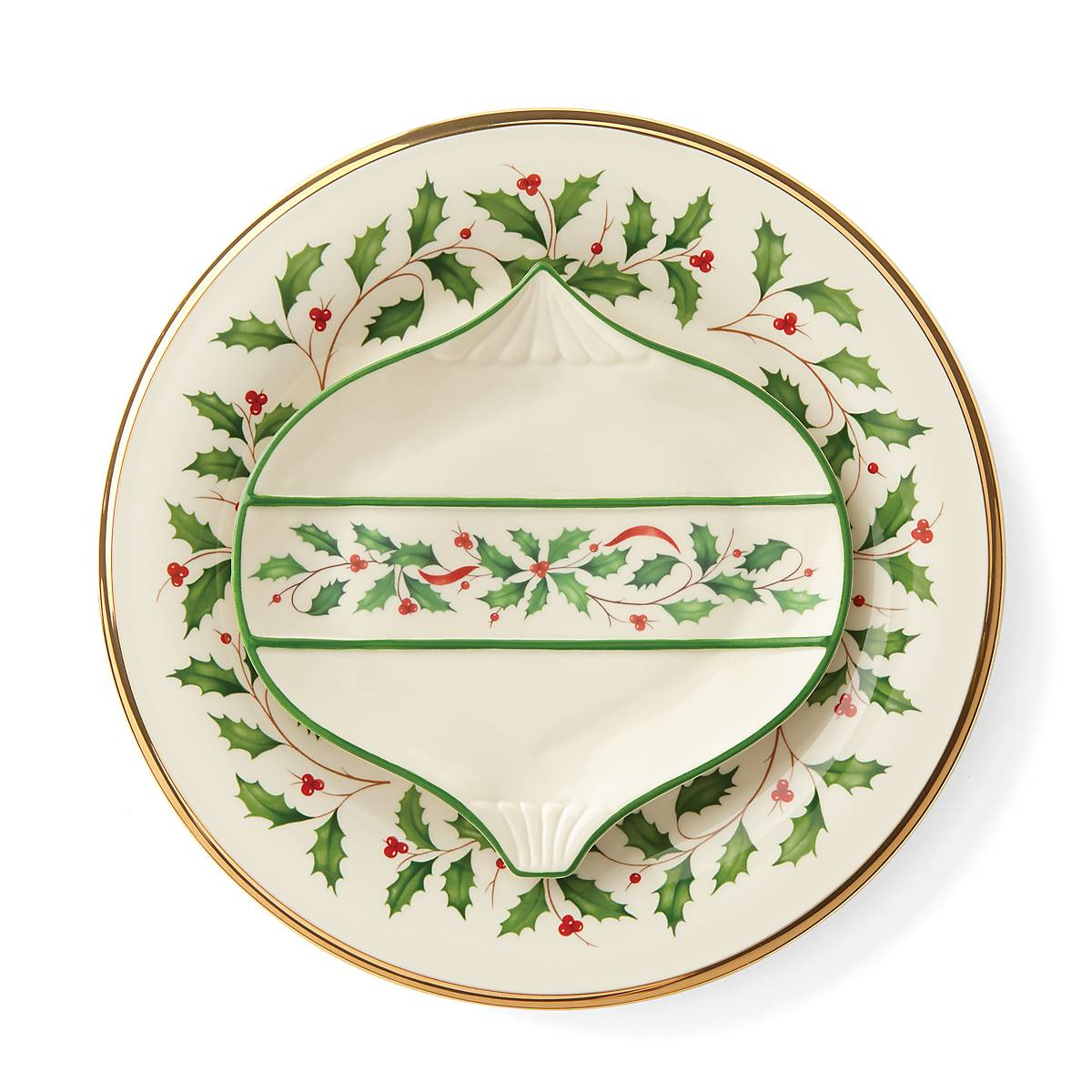 Lenox Holiday Stocking Accent Plate