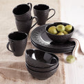 Chelse Muse Fleur Matte Black 4-Piece All-Purpose Bowl Set