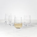 Spade Clover™ 4-piece Stemless Wine Glass Set