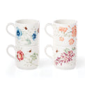 Butterfly Meadow 4-Piece Stacking Mug Set