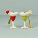 Forever Friends Margarita 2-Piece Ornament Set