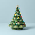 Treasured Traditions Green Porcelain Light-Up Tree