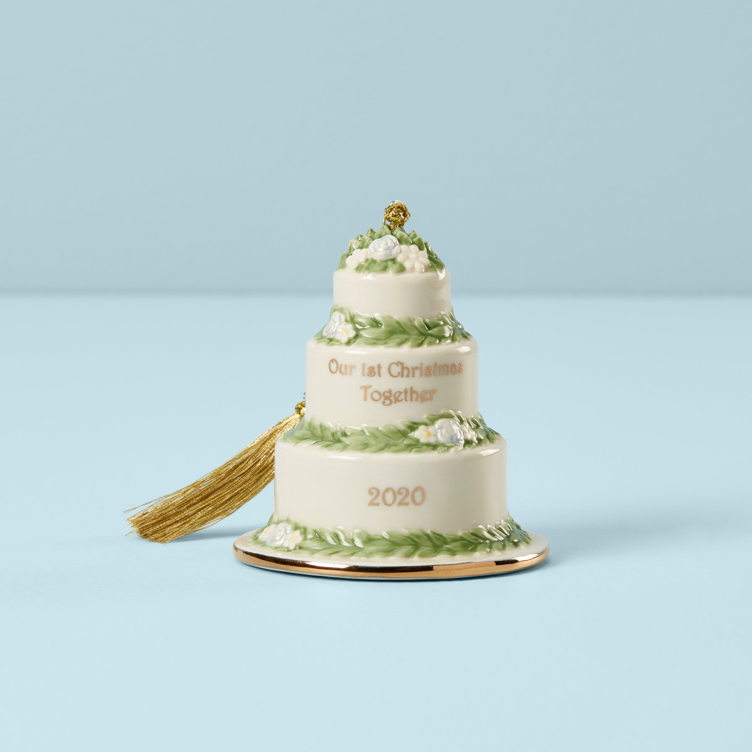 Wedding Cake Christmas Ornaments 2020 2020 Our First Christmas Together Cake Ornament – Lenox Corporation