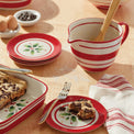 Holiday Handpaint Stripe Batter Bowl