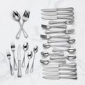 Shelby 50-Piece 18/10 Stainless Steel Flatware Set
