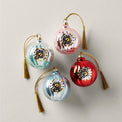 Pastel Ball 4-Piece Ornament Set