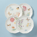 Butterfly Meadow Gold 4-Piece Dinner Plate Set