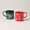Festive Folk 2-Piece Mug Set