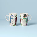 Snowman Heat-Changing 2-Piece Magic Mug Set
