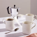 French Perle Scallop 4-Piece Mug Set