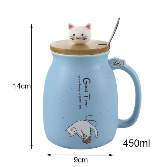 Adorable Kitten Coffee Mug Ceramic