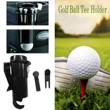 Golf Clip On Four In One Holder Ball, Tee, Divot Tool, Cleaning Brush