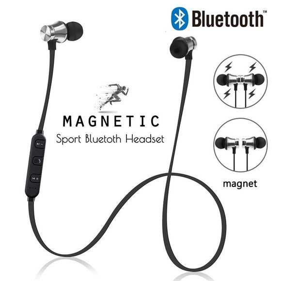 Magnetic Bluetooth Earphones With Mic For Handsfree Calling