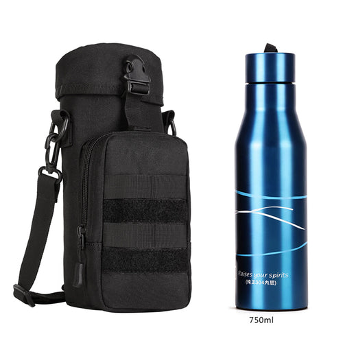 Portable Water Bottle Pouch Pack Bag