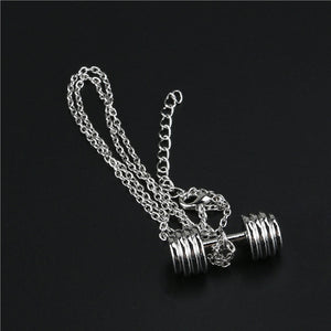 Dumbbell Pendant Necklace