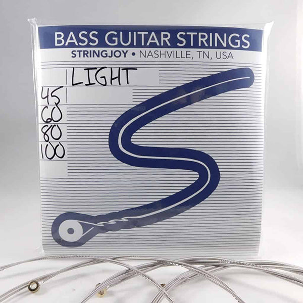 Stringjoy 4 String Nickel Wound Bass Guitar Strings - Light Gauge (45-100)