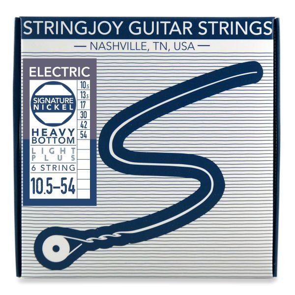 Stringjoy 6 String Nickel Wound Electric Guitar Strings - Heavy Bottom Light Plus Gauge (10.5-54)