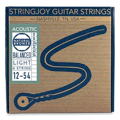 Stringjoy Naturals - Light Gauge (12-54) Phosphor Bronze Acoustic Guitar Strings