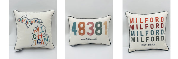 Milford, Michigan Custom Pillows and More