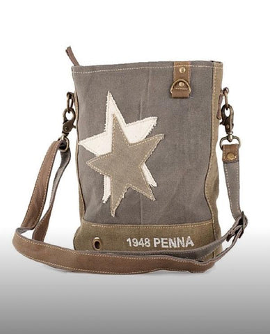 1948 PENNA DOUBLE STAR CROSS BODY