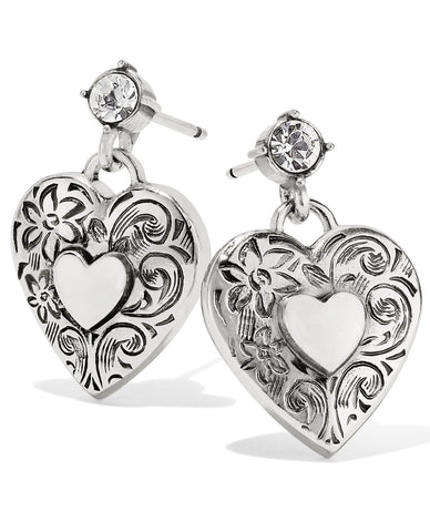 BRIGHTON JA6640 ONE HEART POST EARRINGS