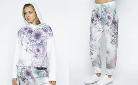 VOCAL 18709HL FLORAL HOODIE PULLOVER and VOCAL 18709P FLORAL PANTS