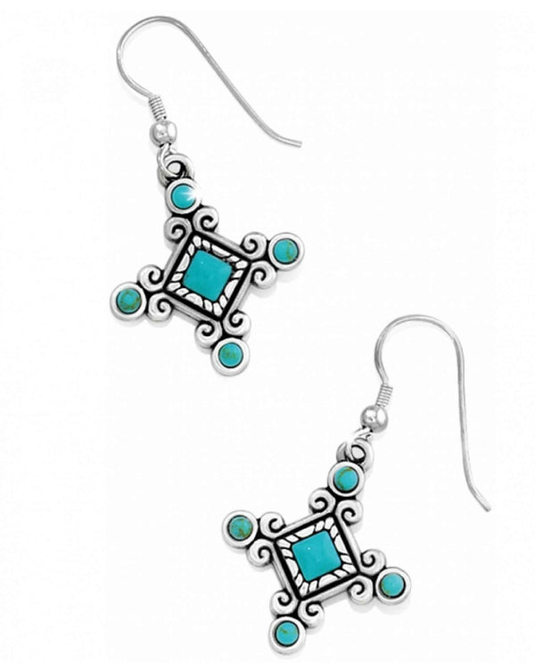 Brighton JE8862 Indie Cross French Wire Earrings