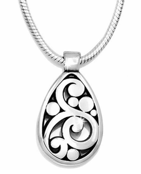 Silver Brighton J46310 Contempo Necklace with modern swirly motif design