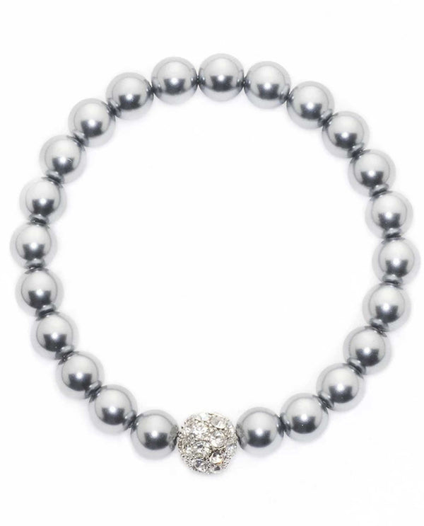 David Tutera 12483 Light Grey Sydney Ball Bracelet