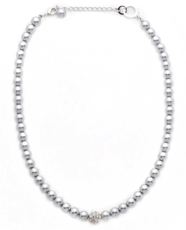 David Tutera 12489 Light Grey Sydney Ball Necklace