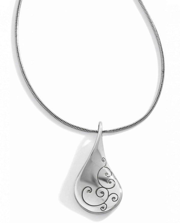 Brighton J46930 Twirl Necklace silver necklace with swirled design