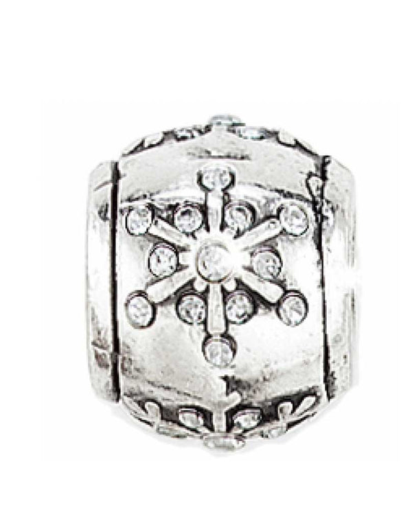 Silver Brighton J95122 Nordic Star Stopper Bead with Swarovski snowflakes that glisten