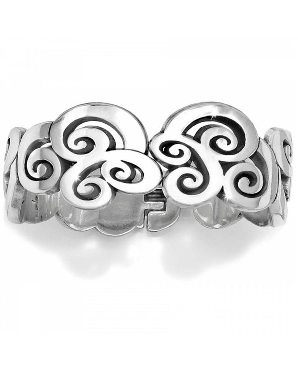 Brighton JB0650 Mingle Mix Hinged Bangle silver swirled design bangle bracelet