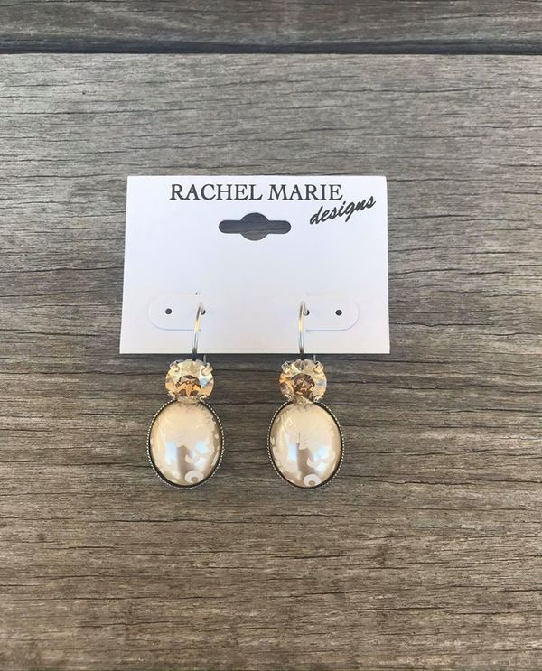 Vintage Pearl Drop Earring By Rachel Marie Designs 102