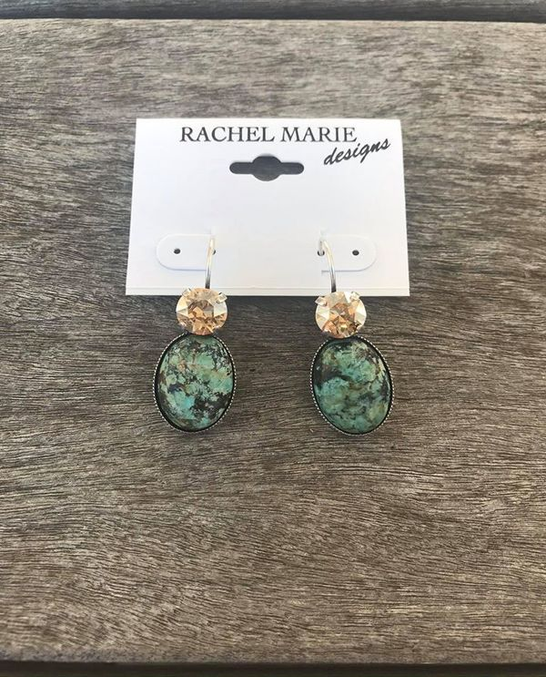 Turquoise With Silk Earring By Rachel Marie Designs 110